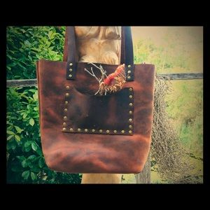 Genuine Oiled Rustic Leather Tote